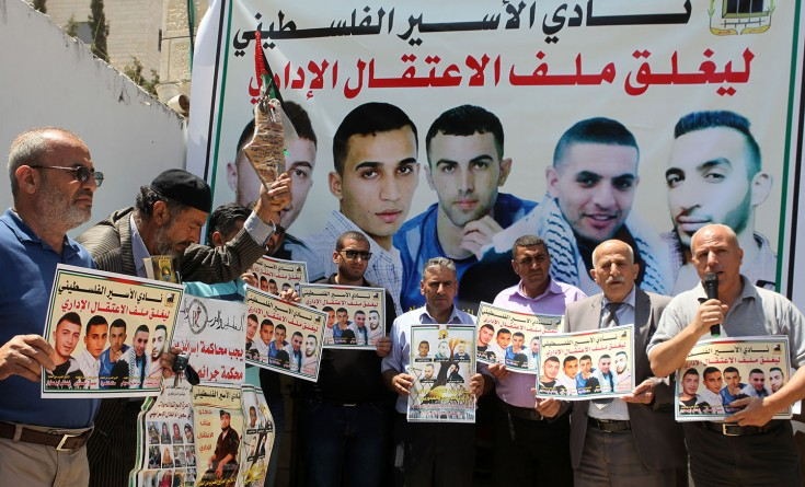 الاحتلال يقمع مسيرة إسناد الأسرى المضربين في سلفيت