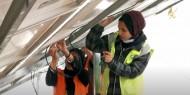 خاص بالفيديو والصور|| فتيات غزة يقتحمن مجال تركيب أنظمة الطاقة الشمسية