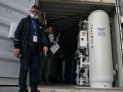 بالصور|| المحطة الثانية لإنتاج الأكسجين تصل غزة بدعم من دولة الإمارات العربية المتحدة