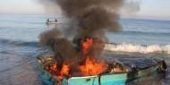 بالصور|| استشهاد ثلاثة صيادين إثر سقوط قذيفة على مراكبهم غرب خانيونس