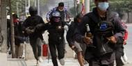 بالصور|| شرطة ميانمار تطلق النار على المتظاهرين
