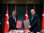 أردوغان والدبيبة يعلنان التزامهما باتفاق الحدود البحرية