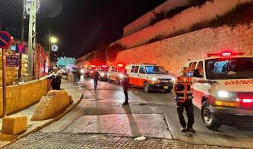 10 إصابات جراء اعتداء الاحتلال على المصلين لدى خروجهم من الأقصى فجر اليوم