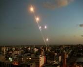 بالفيديو|| صواريخ المقاومة في سماء تل أبيب