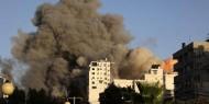 طيران الاحتلال يقصف عمارة كحيل قرب الجامعة الإسلامية
