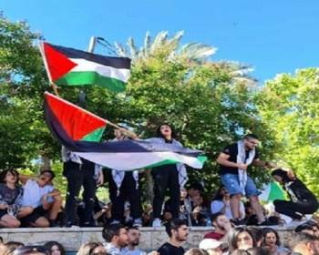 بالصور   تظاهرات في بلدات عربية بالداخل المحتل دعما للقدس وغزة
